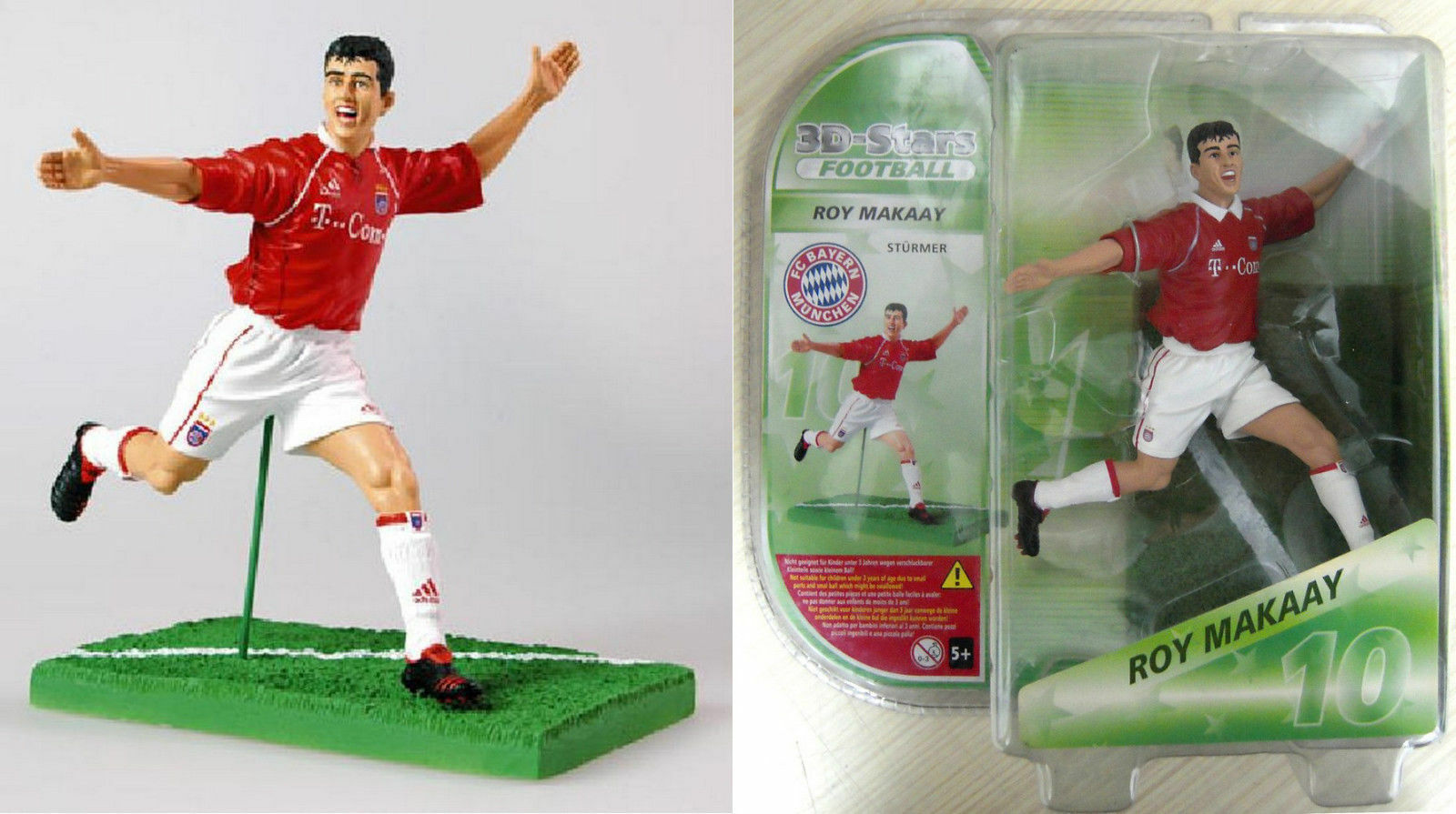 ROY MAKAAY Action Figures 3D Stars Football. Bayern Munich Monaco NUOVO h 15cm